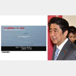 鶴の一声で(左はレーダー照射問題で防衛省が公開した映像)/(C)日刊ゲンダイ
