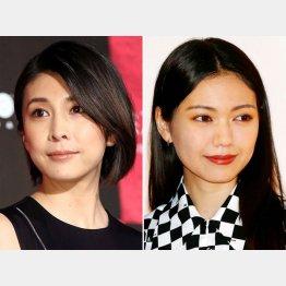 竹内結子(左)と二階堂ふみ(C)日刊ゲンダイ