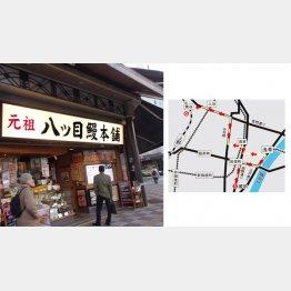 合羽橋を目指す途中に八ッ目鰻本舗(C)日刊ゲンダイ