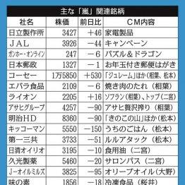 """相場も""""嵐""""銘柄牽引 株価上昇は活動休止まで続くと評論家"""