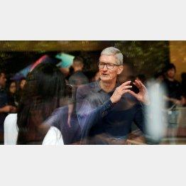 上海のアップル・ストアを訪れたクックCEO(2018年10月)/(C)ロイター