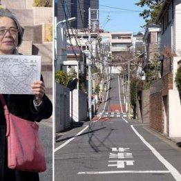 中目黒周辺は高台が「住環境が良い」と評価される(左は「路線地図で町歩き」講座を開催している中川さん)