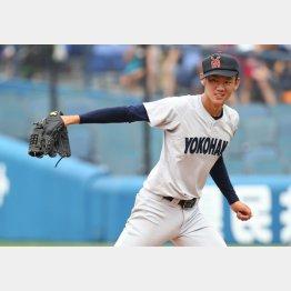 ドラ1候補の横浜・及川(C)日刊ゲンダイ