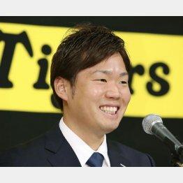 オリックスからFA移籍した西勇輝(C)共同通信社