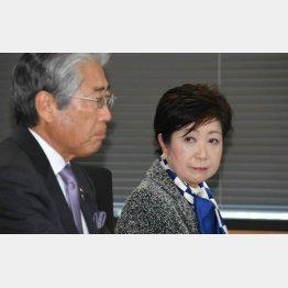 共にひと安心(左は竹田JOC会長)/(C)日刊ゲンダイ