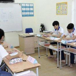 日本語を学ぶベトナムの若者ら