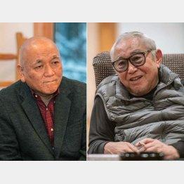 倉本聰氏(右)と碓井広義氏(写真・大西裕之)