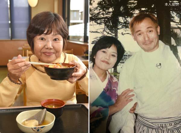 右は「大食い選手権」の司会を努めた中村ゆうじさんと(95年)/(C)日刊ゲンダイ