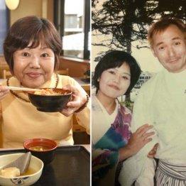 右は「大食い選手権」の司会を努めた中村ゆうじさんと(95年)
