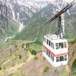 日本で唯一の2階建てゴンドラ(新穂高ロープウェイ)