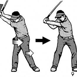 切り返しではトップに収まる前に左半身で引っ張り下ろす