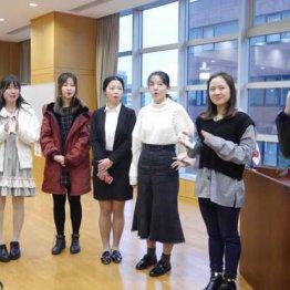 日本語スピーチの大会に出場する中国人留学生