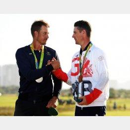 リオ五輪で金のJ・ローズ(左は銀のH・ステンソン)(C)ゲッティ=共同