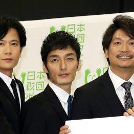 (左から)稲垣吾郎、草彅剛、香取慎吾