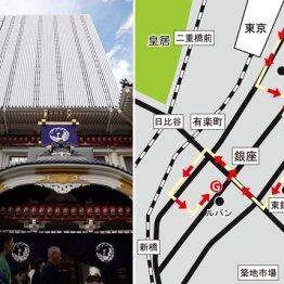 東京駅八重洲口から歌舞伎座経由で銀座の画廊巡り