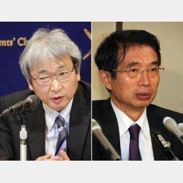 大鶴氏(左)と弘中氏(C)日刊ゲンダイ
