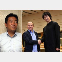 秋元司環境副大臣(左)と白石監督と主演の斎藤工(提供写真)