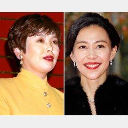 上沼恵美子(左)と木村佳乃(C)共同通信社