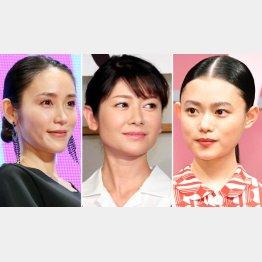 (左から)山口紗弥加、真木よう子、杉咲花(C)日刊ゲンダイ