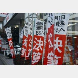 消費税は確実に…(C)日刊ゲンダイ