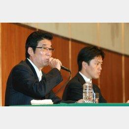 松井府知事と吉村市長(C)日刊ゲンダイ