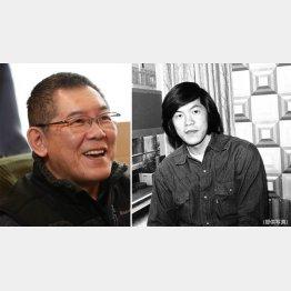 作家の今野敏さん、右は東芝EMI時代(C)日刊ゲンダイ