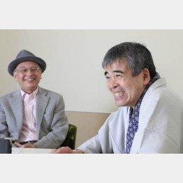 三遊亭円歌(右)と吉川潮氏/(C)日刊ゲンダイ