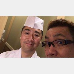「日本橋蛎殻町 すぎた」のご主人杉田孝明さんと/(提供写真)