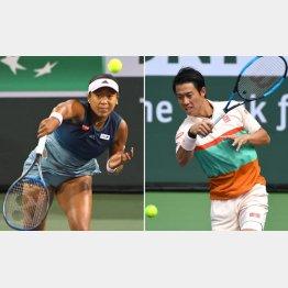 大坂なおみ(左)と錦織圭(C)ロイター/USA TODAY Sports