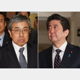安倍首相(右)と小西禎一元大阪副知事(C)日刊ゲンダイ