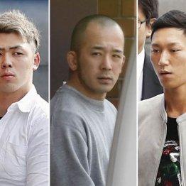 根っからのワル(左から須江、小松園、酒井容疑者)