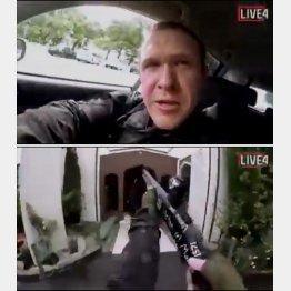容疑者とみられる男が流した動画のひとコマ(C)ロイター