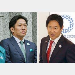 原晋監督(左)と鈴木大地スポーツ庁長官(C)日刊ゲンダイ