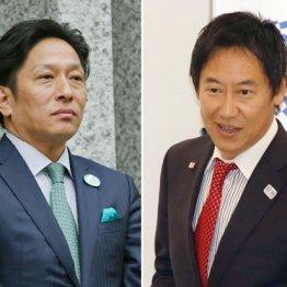 原晋監督(左)と鈴木大地スポーツ庁長官
