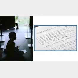 心愛ちゃんもアンケートでつらさを訴えていた(右)、写真はイメージ(C)共同通信社