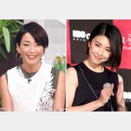 宮沢りえ(左)と竹内結子(C)日刊ゲンダイ
