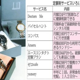 高級腕時計のレンタルも
