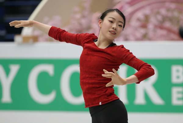 公式練習では何度も3Aの着氷に成功(C)日刊ゲンダイ