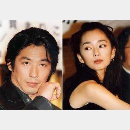 真田広之(左)と葉月里緒奈(C)日刊ゲンダイ