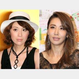 雛形あきこ(左)と鈴木紗理奈(C)日刊ゲンダイ