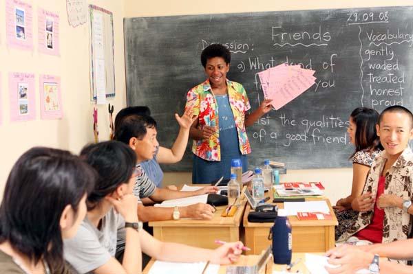 欧米の半分以下の費用で語学留学ができる(提供写真)