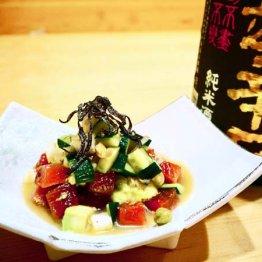 合う酒=辛口の日本酒