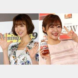 右から指原莉乃、篠田麻里子(C)日刊ゲンダイ