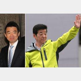 橋下徹元市長(左)と松井一郎前知事(C)日刊ゲンダイ