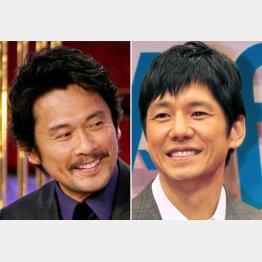 内野聖陽(左)と西島秀俊(C)日刊ゲンダイ