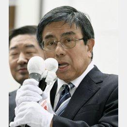 当時、圧倒的な発言力を持っていた橋下市長に猛反論をした小西禎一候補(C)共同通信社