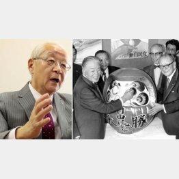 この後、「四十日抗争」に…(政治ジャーナリストの田﨑史郎さん=左)(C)日刊ゲンダイ