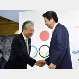 大事なのは…(竹田JOC会長と安倍首相)/(C)共同通信社