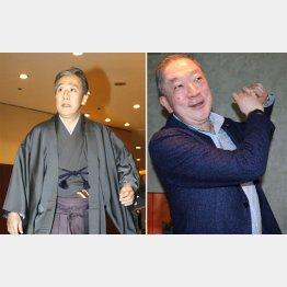 板東彌十郎さん(右)と故・18代目中村勘九郎さん(C)日刊ゲンダイ