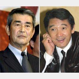 渡哲也(左)と萩原健一(C)日刊ゲンダイ